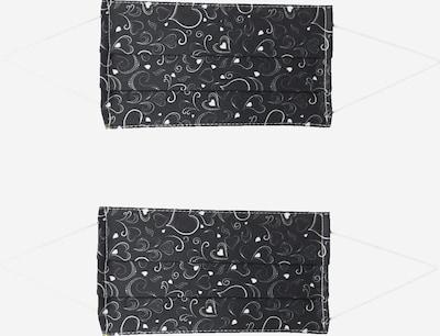Zwillingsherz Masque en tissu '2er Pack Waves' en noir / blanc, Vue avec produit