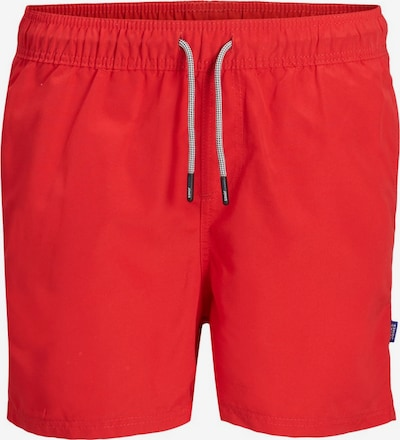 Jack & Jones Junior Recyclingpolyester Badeshorts in rot, Produktansicht