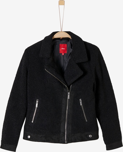 s.Oliver Junior Bikerjacke in schwarz, Produktansicht