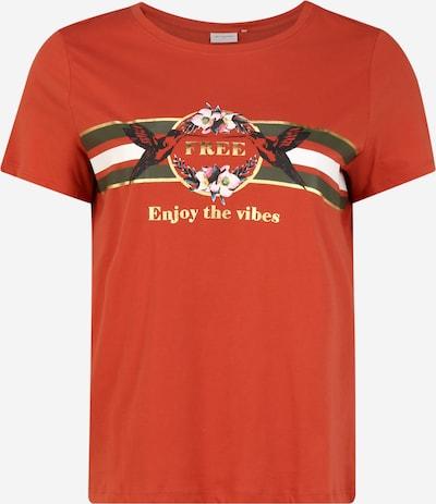 Tricou 'CARAMALFI' ONLY Carmakoma pe roșu orange, Vizualizare produs
