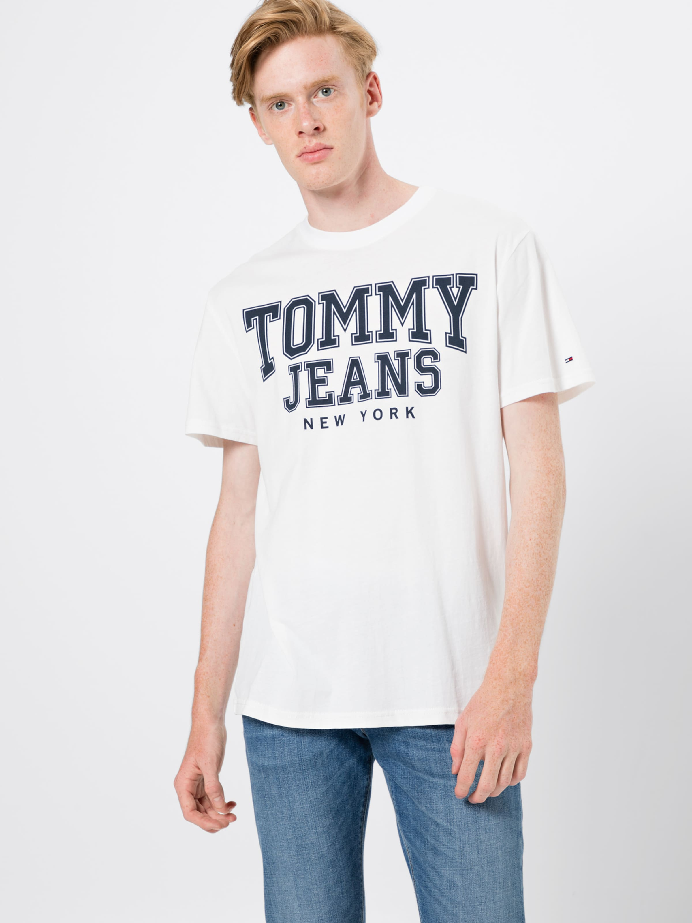 Tommy shirt T DunkelblauWeiß Jeans In SpzUMVq