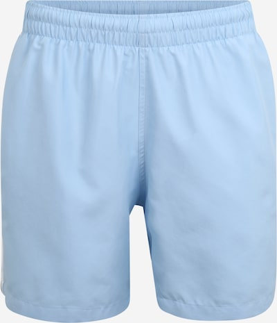 ADIDAS ORIGINALS Zwemshorts '3 STRIPE SWIMS' in de kleur Lichtblauw / Wit, Productweergave