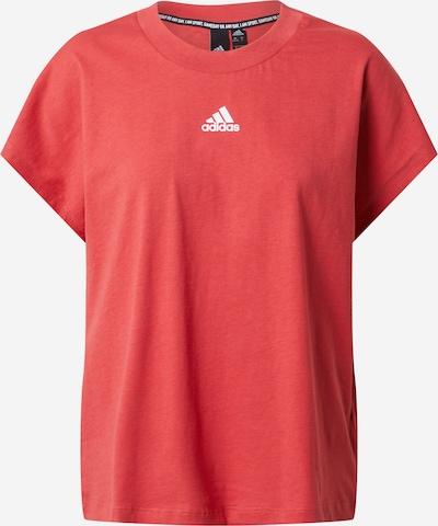 ADIDAS PERFORMANCE T-shirt fonctionnel en rouge clair / blanc, Vue avec produit