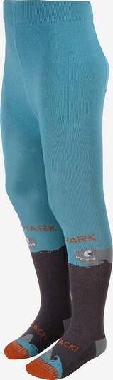 MAXIMO Strickstrumpfhose in himmelblau / dunkelbraun / grau / dunkelorange, Produktansicht