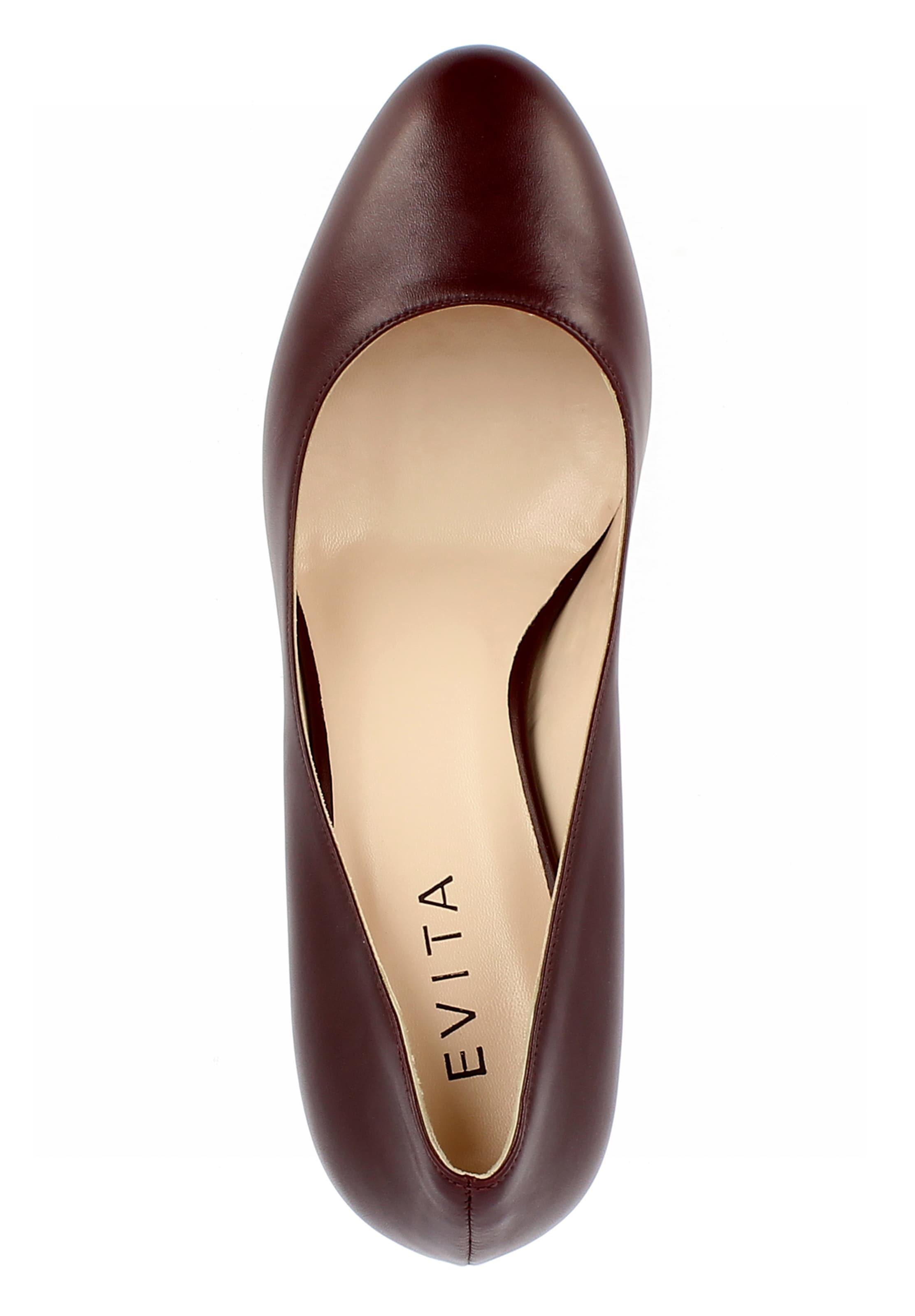 En Bordeaux Evita Evita 'bianca' Escarpins qVSzGUpLM