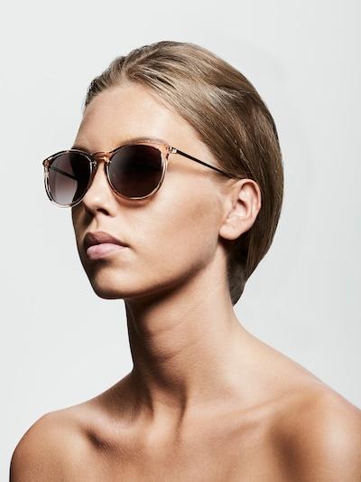 Pilgrim Sonnenbrille 'Vanille' in braun: Frontalansicht