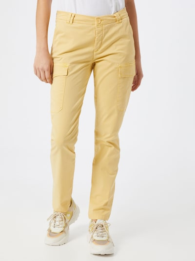 MOS MOSH Kargo hlače 'Abbey' | zlato-rumena barva, Prikaz modela