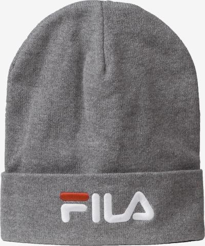 FILA Beanie 'Slouchy Leniar' in grau / hellrot / weiß, Produktansicht