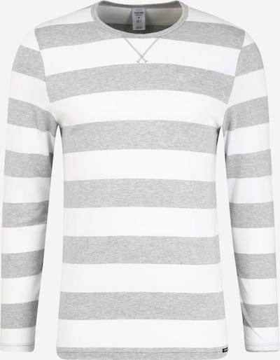 Skiny Pyjama long en gris chiné / blanc, Vue avec produit
