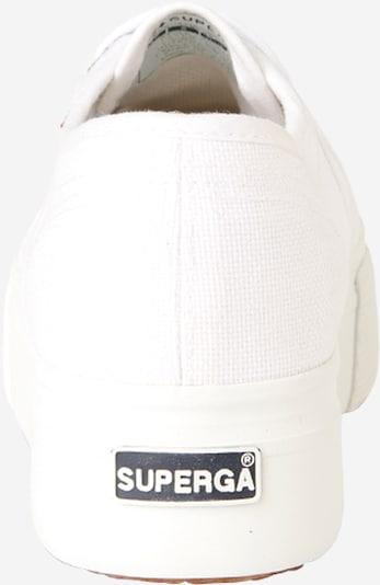 SUPERGA Sneaker in weiß: Rückansicht