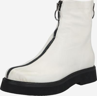 MJUS Enkellaarsjes 'Triple' in de kleur Zwart / Wit, Productweergave