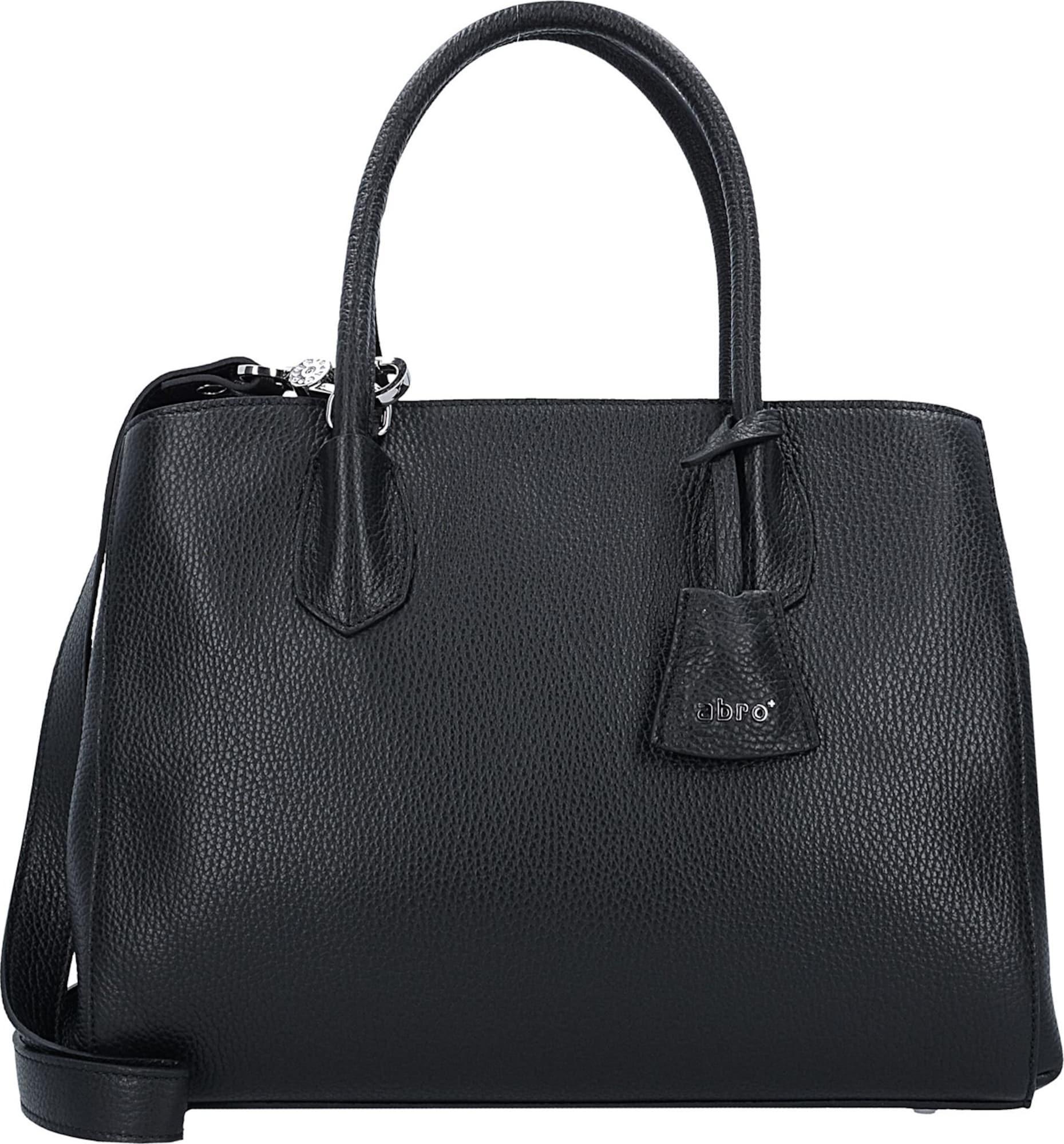 abro adria handtasche leder 32 cm in schwarz about you. Black Bedroom Furniture Sets. Home Design Ideas