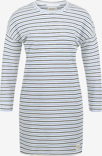 Desires Sweatkleid 'Helena' in blau / weiß: Frontalansicht