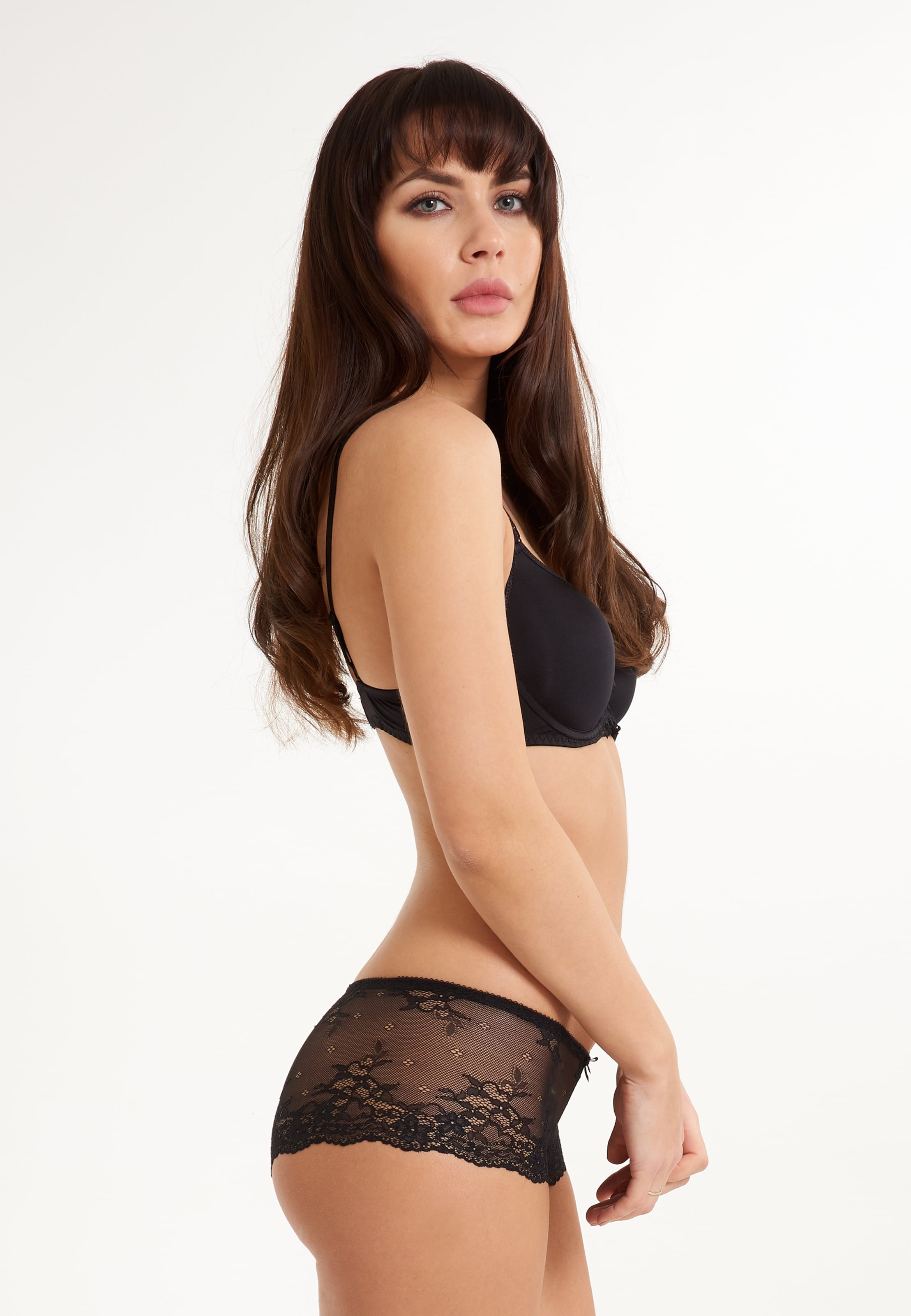 In Lace' SchwarzTransparent Lingadore 'daily Hipster DIEH29