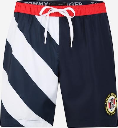 Tommy Hilfiger Underwear Badeshorts in blau / feuerrot / weiß, Produktansicht