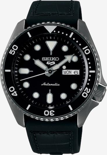 SEIKO Uhr in silbergrau / schwarz, Produktansicht