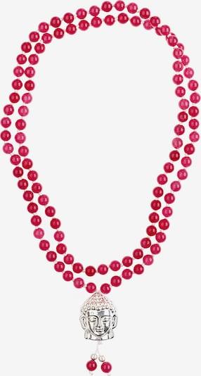 YOGISTAR.COM Mala-Kette 'Gaby' in pink / silber, Produktansicht
