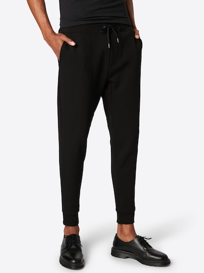 POLO RALPH LAUREN Pantalon 'JOGGERPANTM2-PANT' en noir, Vue avec modèle