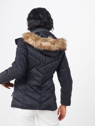 ESPRIT Prehodna jakna | črna barva: Pogled od zadnje strani