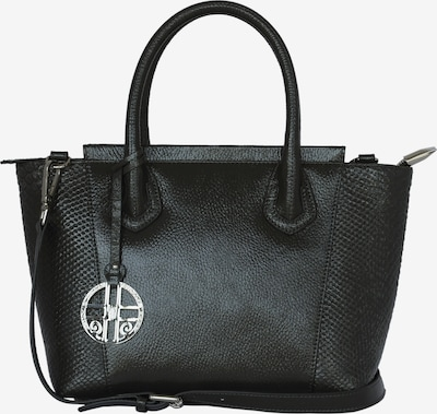 Silvio Tossi Lederhandtasche mit Anakonda-Prägung in grau, Produktansicht