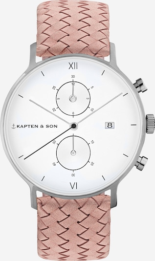 Kapten & Son Analógové hodinky 'Chrono Woven' - ružová / strieborná / biela, Produkt