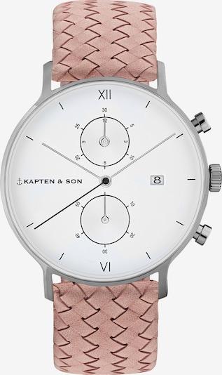 Ceas analogic 'Chrono Woven' Kapten & Son pe roz / argintiu, Vizualizare produs