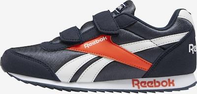 Reebok Classic Sneaker in dunkelblau / orange / weiß: Frontalansicht