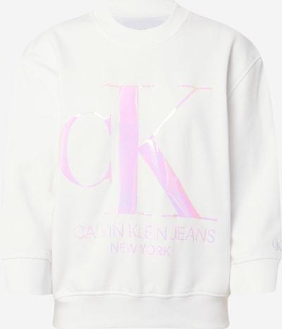 Calvin Klein Sweatshirt 'Iridscent' in hellpink / weiß, Produktansicht