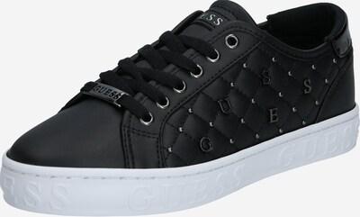 GUESS Sneaker 'GLADISS' in gold / schwarz / weiß: Frontalansicht
