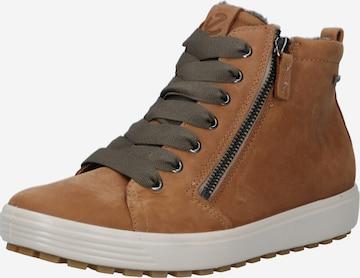 ECCO High-Top Sneakers in Brown