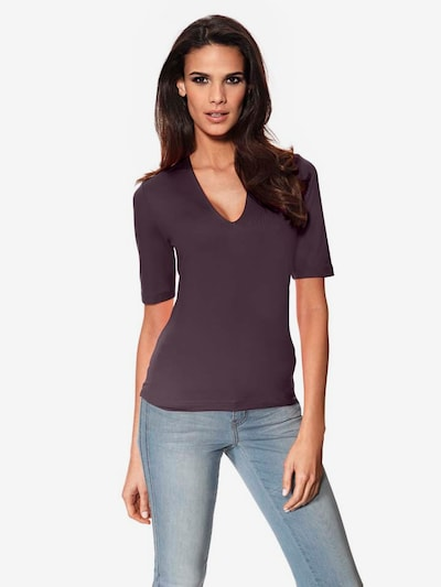 Ashley Brooke by heine Shirt in Aubergine: Frontal view
