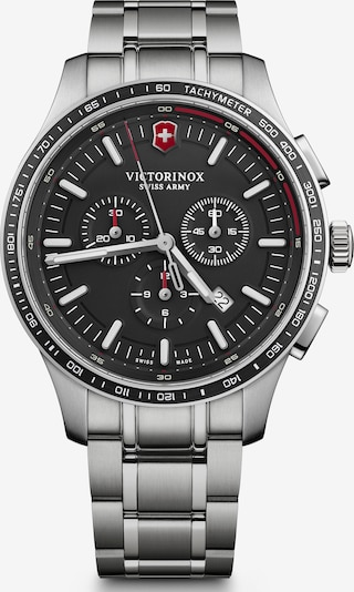 VICTORINOX Analoog horloge 'Alliance Sport' in de kleur Zwart / Zilver, Productweergave