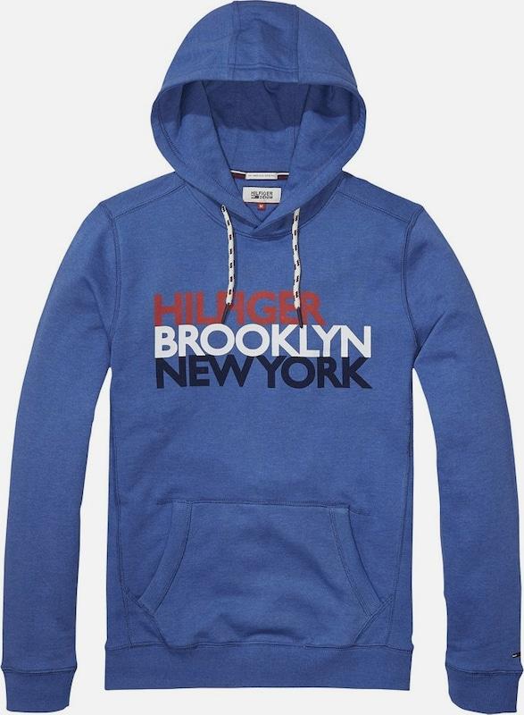 Tommy Jeans Hilfiger Denim Sweatshirt 'THDM BASIC RIB HD HKNIT L/S 12'