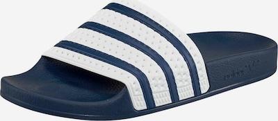 ADIDAS ORIGINALS Badeschuhe 'Adilette' in nachtblau / weiß, Produktansicht
