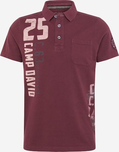 CAMP DAVID Shirt 'Greenland Stargazer I' in Dark grey / Wine red / White, Item view
