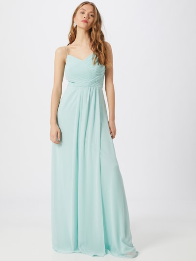 STAR NIGHT Kleid 'long dress chiffon / bicolor' in mint: Frontalansicht