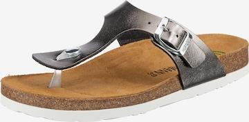 DR. BRINKMANN T-Bar Sandals in Grey