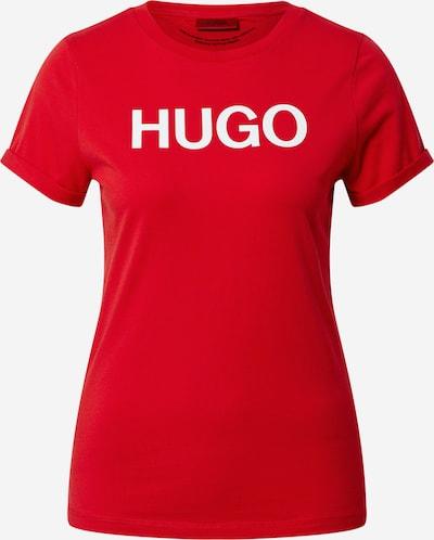 HUGO T-shirt en rouge / blanc, Vue avec produit
