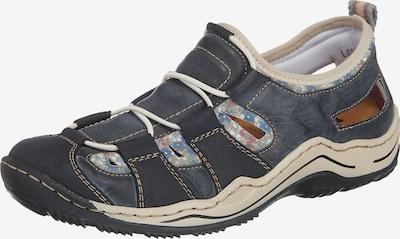 RIEKER Sneaker in beige / nachtblau / taubenblau, Produktansicht