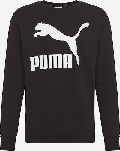 PUMA Sweat-shirt en noir / blanc: Vue de face