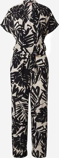 Cartoon Jumpsuit in creme / schwarz, Produktansicht