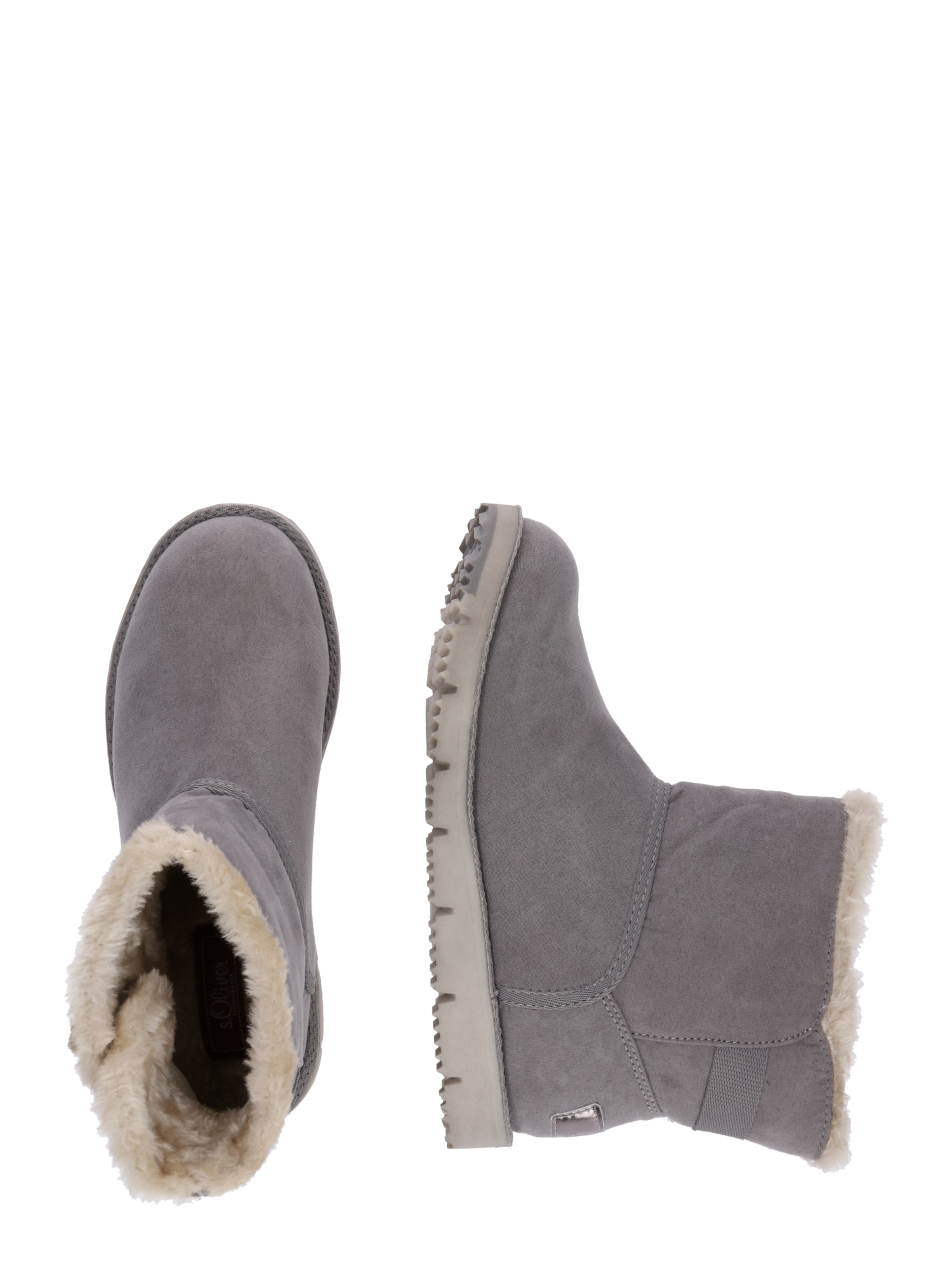 Red oliver 'button' Graumeliert Label S In Snowboots eD29WHYIE