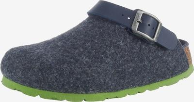 Fischer-Markenschuh Pantoletten in dunkelblau / apfel, Produktansicht