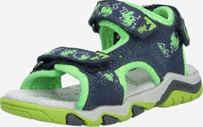 LURCHI Chaussures ouvertes en bleu marine / vert, Vue avec produit