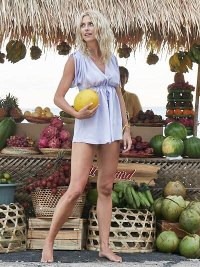 LeGer by Lena Gercke Tunika 'Lara' in lila, Modelansicht
