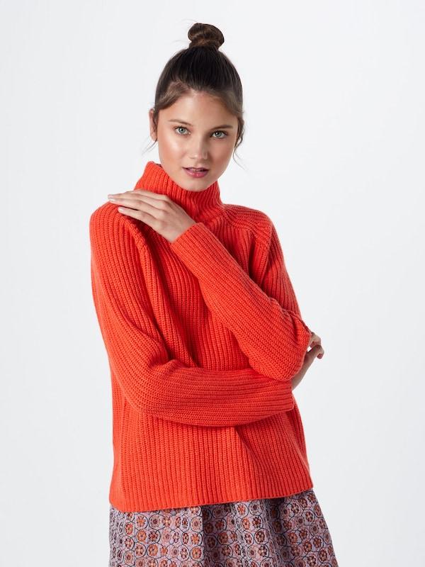 'knit Re Pull Rouge Orangé over draft En Turtleneck' wOXikTPZu