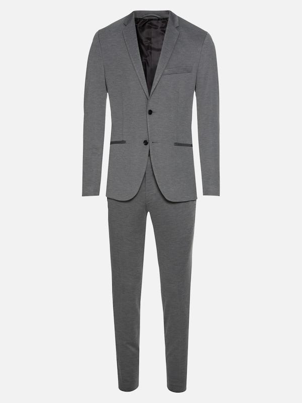 jack jones anzug 39 jprsteven suit 39 in graumeliert about you. Black Bedroom Furniture Sets. Home Design Ideas