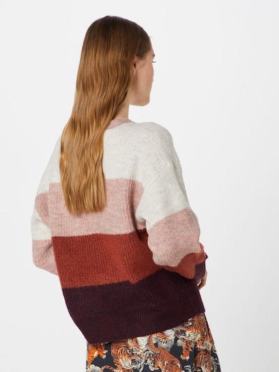 NEW LOOK Pull-over en gris / rose / rouge: Vue de dos