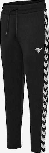 Hummel Trainingshose in schwarz / weiß: Frontalansicht