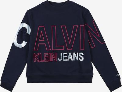 Calvin Klein Jeans Sweat-shirt 'LOGO FOIL BOXY FIT S' en bleu marine, Vue avec produit